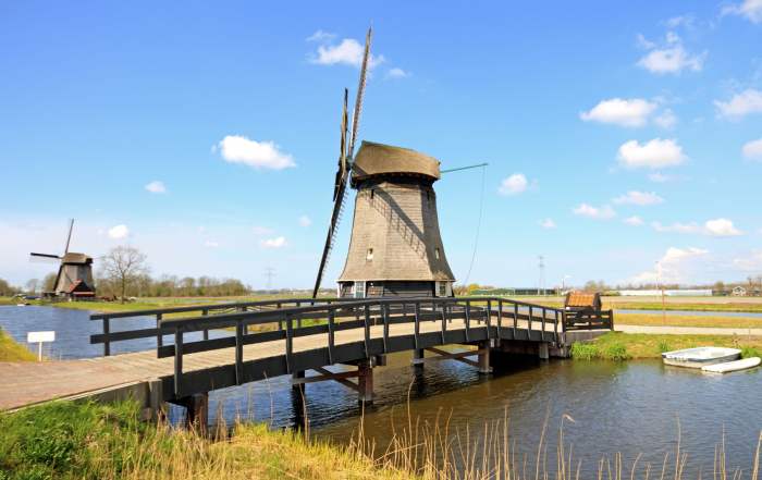 13231082 - traditional windmills in dutch landscape in the netherlands